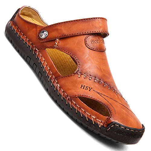 Casual Leather Breathable Beach Shoes for Men