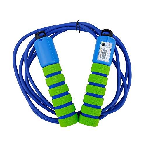EmpireAthletics Corda per Saltare in Verde Blu - Comoda Corda per Saltare con Maniglie Antiscivolo, controsoffitto e Rotazione di 360° per Bambini e Adulti - Fitness Crossfit Sport Boxe Speed Rope