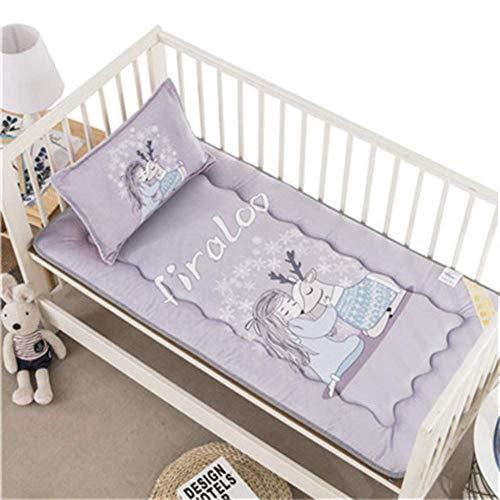 JY&WIN Colchón de futón suave, tamaño de cuna, colchón impreso para niños y niñas, colchón reversible de 56 x 100 x 3 cm