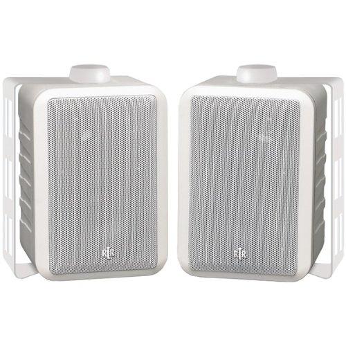 BIC AMERICA RTRV44-2W RtR Series Indoor/Outdoor 3-Way Speakers (White)