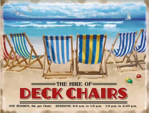 Grand chaises longues Motif Noël Vintage Plaque murale métallique rétro