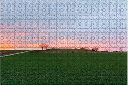 1000 Teile-Sonnenaufgang über dem Dock in Clear Lake, Manitoba rot Bench Stock Holzpuzzle DIY Kinder Lernpuzzles Dekompressionsgeschenk für Erwachsene Kreative Spiele Spielzeug Puzzles Wohnkultur-Far
