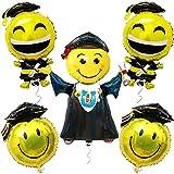 Jumbo Jumping Grad for Kindergarten Graduation Balloons 2021 - 40 Inch, Pack of 6   Emoji Graduation Balloon - 26 Inch   Emoji Graduation Decorations 2021   Car Decorations for Graduation Parade 2021