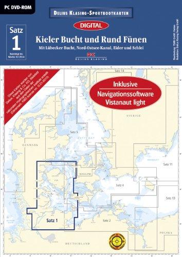 Sportbootkarten Satz 01: Kieler Bucht und Rund Fünen (Ausgabe 2014): Mit Lübecker Bucht, Nord-Ostsee-Kanal, Eider und Schlei