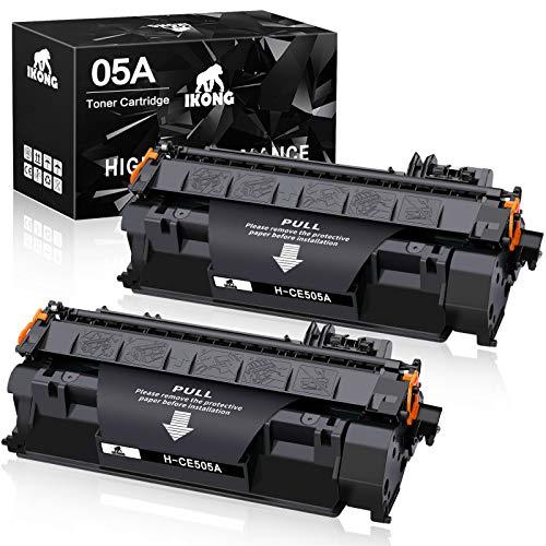 IKONG Compatible Toner Cartridge Replacement for HP 05A CE505A use with Laserjet P2035 P2035n P2055d P2055dn P2055x Printer (2-Black)
