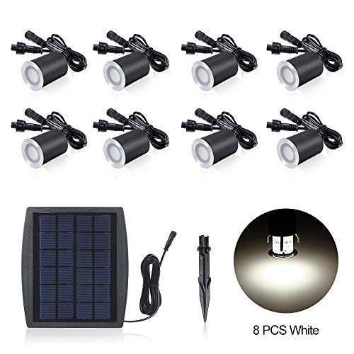 Lixada 6 stuks/8 stuks Solar plafondlampen, IP65 waterdicht zonne-tuin licht Sensing Garden Paths U-lamp LED vloerlamp warmwit