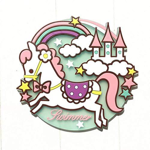XMYNB Portavasos 2 Piezas Kawaii Dibujos Animados Silicona Unicornio Alicia Bebida Posavasos Copa De Vidrio Almohadillas Mats Vajilla Cocina Cocina Vajilla Aislamiento Pad