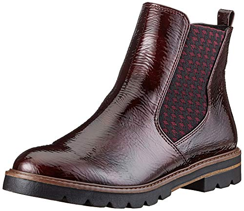 MARCO TOZZI Damen 2-2-25422-25 Boot Chelsea-Stiefel, BORDEAUX PAT, 41 EU