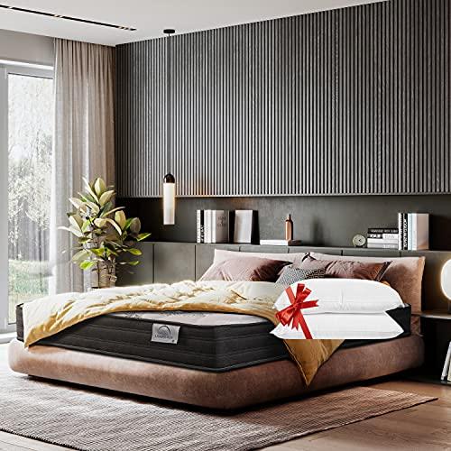 Lisabed Flex   Colchón Ito-Flex 160 x 200 cm   Muelles Ensacados   Viscoelástico   Reversible Verano/Invierno   Gama Prestige Hotel   25cm (+/- 2cm)