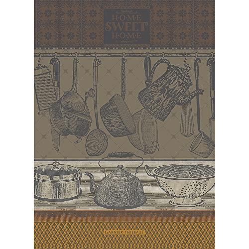 Garnier Thiebaut 42601 - Strofinaccio Home Sweet Home Safran, 56 x 77 cm, 100% cotone