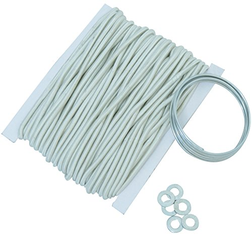 Andes Camping Tent Pole Shock Cord Repair Kit, 45ft Replacement Bungee Elastic Cord