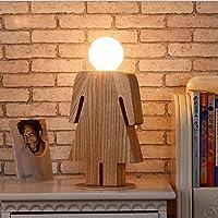 林E27 220Vガール・ボーイ・モデリング木製テーブルリビングルームベッドサイドベッド読書照明に適しランプ、スタイル:女の子、サイズ:S HDJ