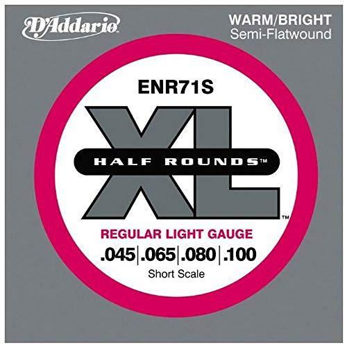 D'Addario NHR065S Half Round, cuerda individual para bajo, escala corta.065