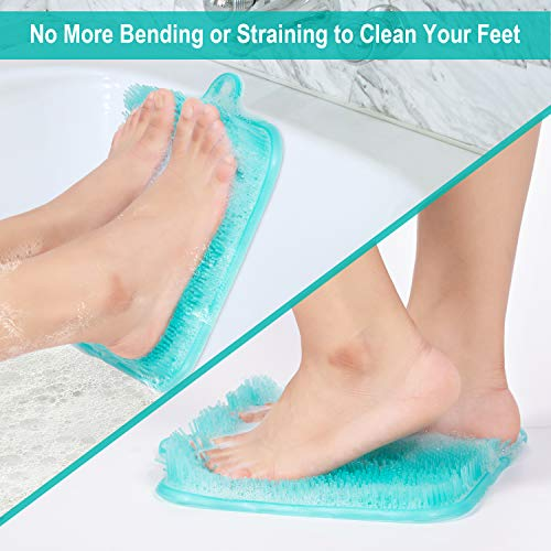 BESKAR Shower Foot Scrubber Mat with Non-Slip Suction Cups- Cleans, Smooths, Exfoliates & Massages your Feet Without Bending, Improve Foot Circulation & Soothes Tired Feet, Great for Shower or Bathtub