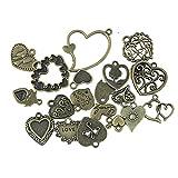 20pcs Retro Bronze Schlüssel Anhänger Schmuck Deko Für Halskette Kette DIY Antike Bronze...