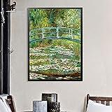 N / A Affiches Et Impressions Fleur Mur Art Printemps Paysage Toile Peinture Mur Photos pour Salon Décoration A 45X60 CM