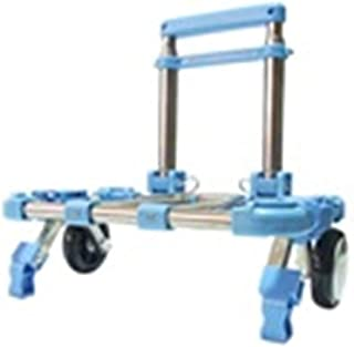 Color : Red QARYYQ Trolley Home Folding Portable Ultra Light Multi-Function Mute Trolley Car Shopping Cart Luggage Cart Truck Trailer Can Withstand 70KG to Send Elastic Rope Trolley
