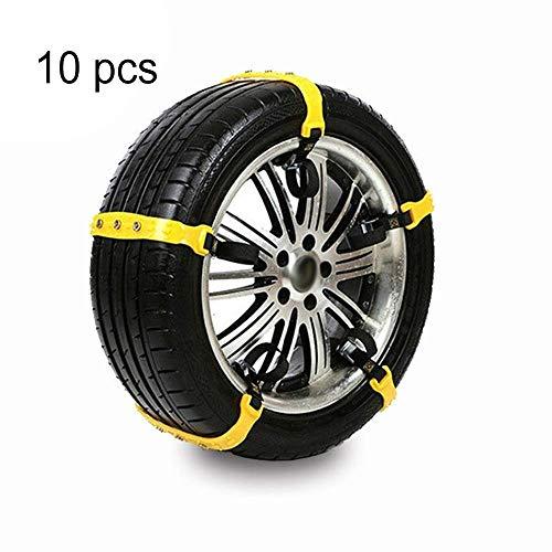 Best Deals! HIZLJJ Anti-Skid Tire Chains Anti Slip Tire Chains Snow Tire Chains Automotive Passenger...