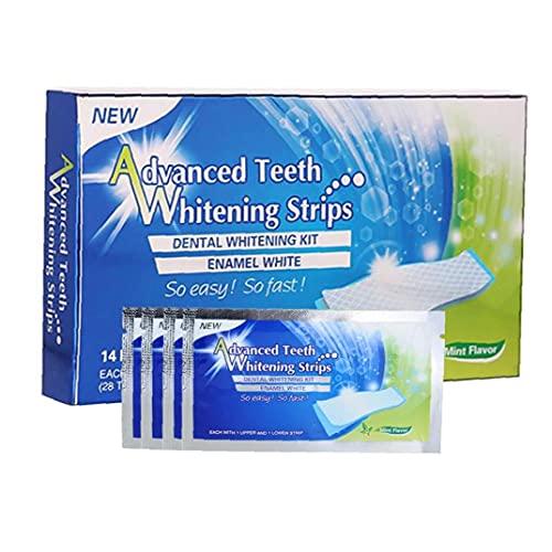 Whitening Zahnpasta Streifen Zähne Reduzierte Sensitive 3D weiße elastische Gel Mundhygiene Doppel Elastic für Entfernen von Flecken 7pairs