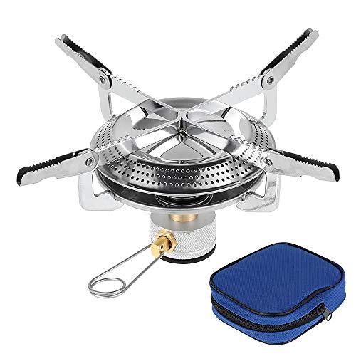 Hornillo Gas,Estufa de Gas para Acampar Mini Bolsillo,Plegable Juego de Utensilios de Cocina para Acampar de Titanio para Picnic al Aire Libre Camping BBQ