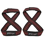 gooplayer Deadlifting straps, Figure 8 Lifting Straps for Weight Lifting, Power Lifting, Non Slip, Weight Lifting Straps, Pair
