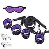 WNYY Fluffy Wrist Handcuffs Bracelet Plush Lining Wrist Handcuffs Bed Restraint for Sex Under Mattress Sê&XY Play ŚM Kit Adullt Séxy Toys (Color : Purple)