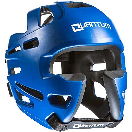Quantum Kopfschutz XP, blau, Head Guard Protector, Sparring, MMA Größe M