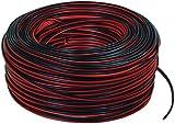 Valueline LSP-010R Cavo per Altoparlanti, 2x0.35 mm², Rosso/Nero