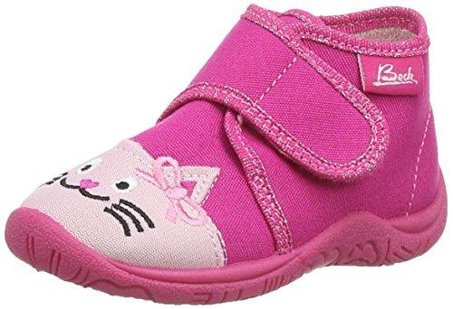 Beck Mädchen Cat Flache Hausschuhe, Pink (pink / 06), 19