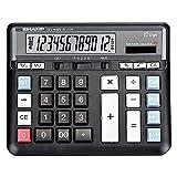 MTFZD Calculadora Grande, 12 Dígitos Pantalla LCD Batería Solar Energía Dual Calculadora Financiera Dedicada Grande Calculadora Comercial De Escritorio De Función Estándar (Color : B)