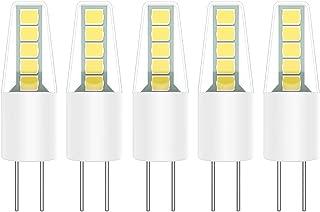 5X G4 LED Bombillas 2W Lámpara LED 10 SMD 2835 LEDs Blanco Frío 6000K Iluminación Bombillas 200LM Equivalente a Halógenas 20W AC/DC12V