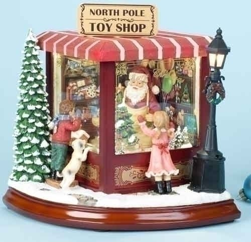 Roman Santa's North Pole Music Box