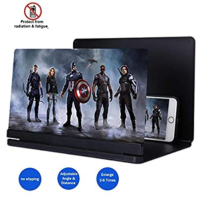 2019 Phone Screen Magnifier, 3D Smart Phone Screen Enlarger HD Movie Amplifier Foldable Cell Phone Holder Stand for iPhone Samsung Galaxy S7 and All other Mobile Phones from Topun