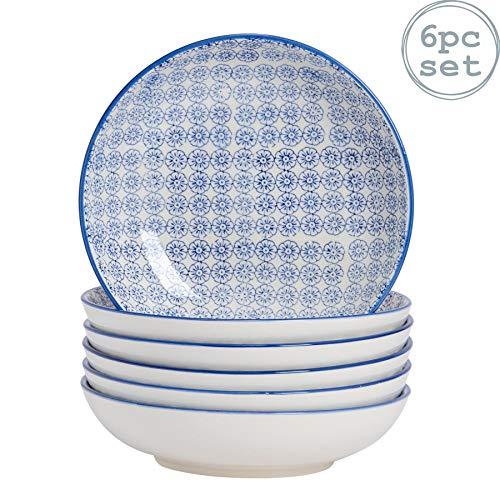 Urban Lifestyle Lot de 6 Assiettes /à Dessert en Porcelaine Bleu Marine