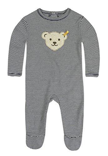 Steiff Steiff Unisex - Baby Strampler, gestreift 0006641, Blau (3032 ), 62