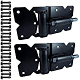 Vinyl Gate Hinges Black (for Vinyl, PVC etc Fencing) Vinyl Fence Gate Hinges w/Mounting Hardware -Vinyl Gate Hinges Have a 90 Degree Bracket Resulting in a Positive Hinge to Gate Connection