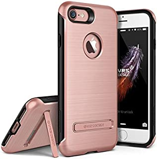 iPhone 7 / 8 Case, VRS Design [Duo Guard Series] Heavy Duty Military Grade Protection with Metal Kickstand - Rose Gold