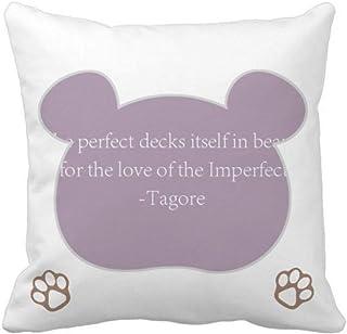 OFFbb-USA Qoutes Famous People Healing Imperfecta Beauty Love Bear - Funda cuadrada para almohada