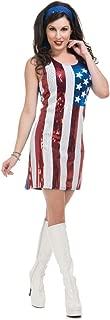 American Flag Go-Go Sequin Dress - Adult Costume