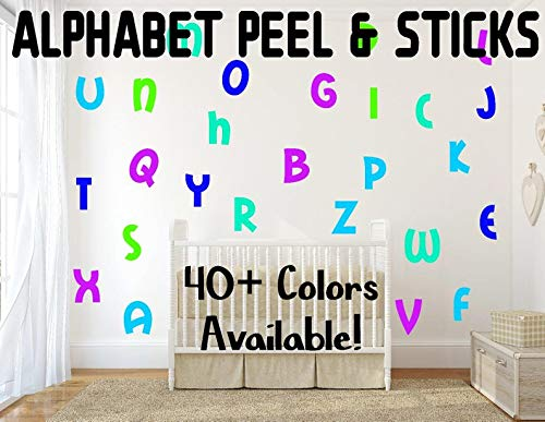 Alfabet Peel & Sticks Alfabet Stickers Muurstickers voor Kinderkamers, Kwekerij Decor Muursticker Decor Letter Decals Alfabet Decals