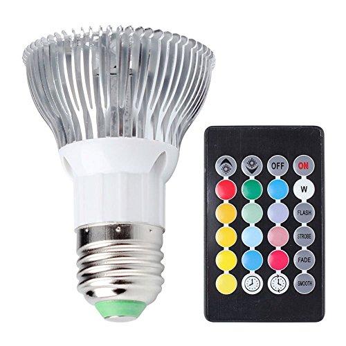 LED RGB Gl¨¹hbirne, Minkoll 10W E27 Farbwechsel Licht Lampe mit IR-Fernbedienung