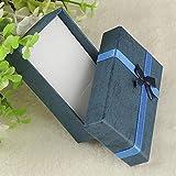 HLH 1 caja organizadora de joyas de 4 x 4 x 3 cm, 8 x 5 x 2,5 cm, 9 x 7 x 3 cm, caja de regalo pequeña para joyería anillo pendiente reloj (color azul real)