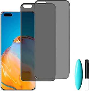 [2 Pack] Privacy Screen Protector for Huawei P40 Pro/ P40 Pro+,Tempered Glass Anti-Spy 9H Hardness Shatterproof Film for H...