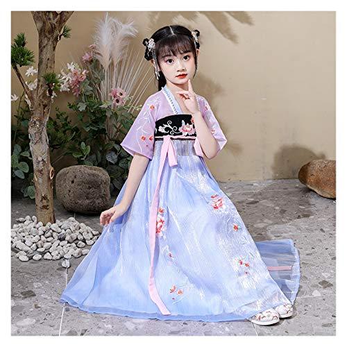 Disfraz de hanfu para nia mejorado, disfraz de hada, estilo chino, disfraz de hada, para escenario (color: estilo J, tamao: 130 cm)