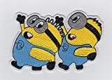 MINIONS FROM DESPICABLE ME - Iron on Patches/Sew On/Applique/Embroidered W4.8' x H3'