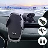 Wireless Car Charger Smart Sensor, MOITA 15W Qi Fast Charging Auto Clamping Car Mount, Windshield/Air Vent Phone Holder for iPhone 11/11 Pro/Xs MAX/XS/XR/X/8/8+ & Samsung S10/S10+/S9/S9+/S8/S8+