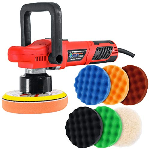 TCP Global Model EP-502-6' Variable Speed Random Orbit Dual-Action Polisher with a 6 Pad (Waffle...