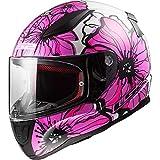 caschi moto - ls2 ff353 rapid casco integrale moto scooter sportivi touring full face casco da corsa, tute color - poppies rosa - s