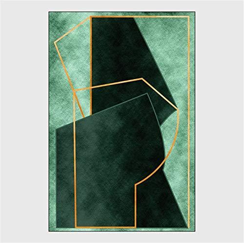 artkingdom Alfombra Alfombrillas Sala de Estar Dormitorio en casa decoración Antideslizante Campo de fútbol Abstracto Tamaño 80 * 160 cm