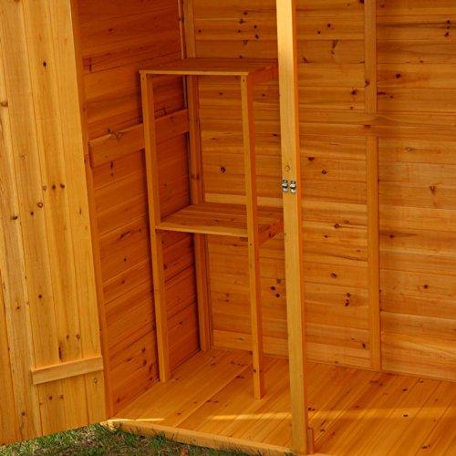 Melko Gerätehaus XXL Geräteschrank Geräteschuppen Gartenschrank, aus Holz, braun, 162 x 140 x 75 cm - 3